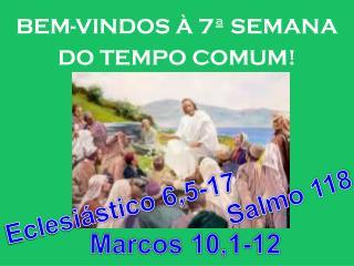 BEM-VINDOS À 7ª SEMANA DO TEMPO COMUM!