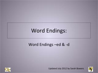 Word Endings: