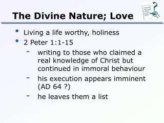 The Divine Nature; Love