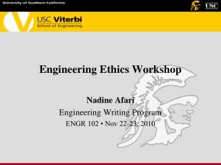 Engineering Ethics Workshop