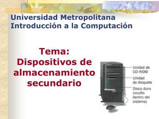 Universidad Metropolitana Introducción a la Computación