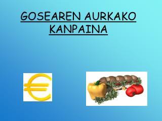 GOSEAREN AURKAKO KANPAINA