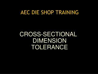 AEC DIE SHOP TRAINING