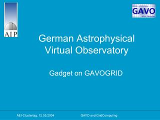 German Astrophysical  Virtual Observatory