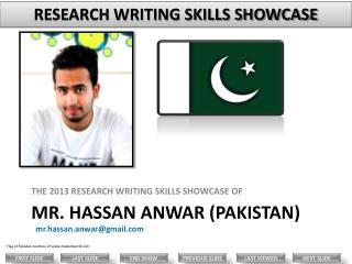 Mr.  Hassan Anwar (PAKISTAN)