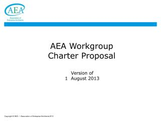 AEA Workgroup Charter Proposal