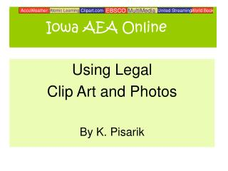 Using Legal  Clip Art and Photos By K. Pisarik