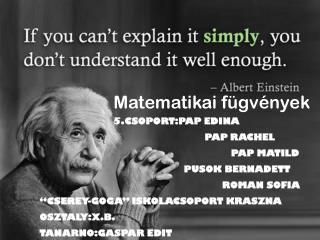 Matematikai fügvények