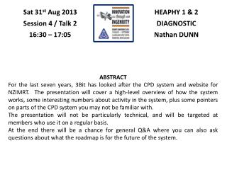 HEAPHY 1 & 2 DIAGNOSTIC Nathan DUNN