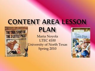 Content area lesson plan