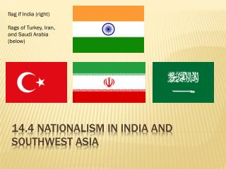 14 .4  Nationalism in India and Southwest Asia