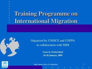 Training Programme on International Migration