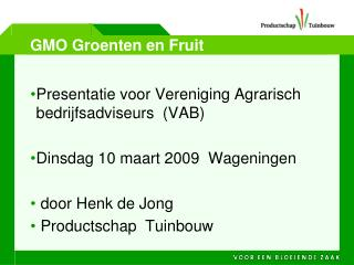 GMO Groenten en Fruit