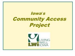 Livable Communities--Accessibility