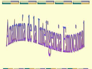 Anatomía de la Inteligencia Emocional