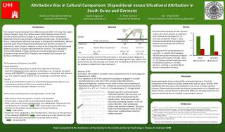 Attribution Bias in Cultural Comparison: Dispositional versus Situational Attribution in