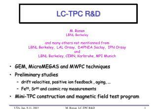 LC-TPC R&D