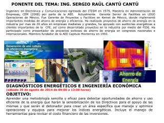 DIAGNÓSTICOS ENERGÉTICOS E INGENIERÍA ECONÓMICA
