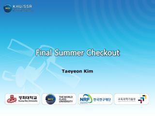 Final Summer Checkout