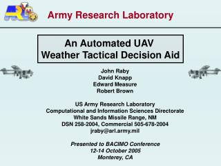 Army Research Laboratory