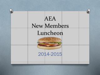 AEA New Members Luncheon