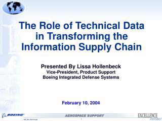 The Role of Technical Data in Transforming the Information Supply Chain