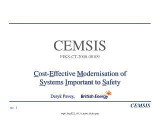 CEMSIS FIKS-CT-2000-00109
