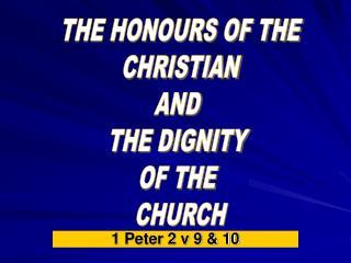 1 Peter 2 v 9 & 10