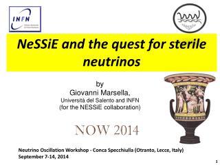 by Giovanni  Marsella ,  Università  del  Salento  and INFN (for the NESSiE collaboration)