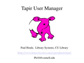 Tapir User Manager