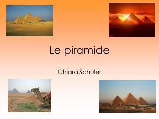 Le piramide