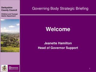 Welcome Jeanette Hamilton Head of Governor Support