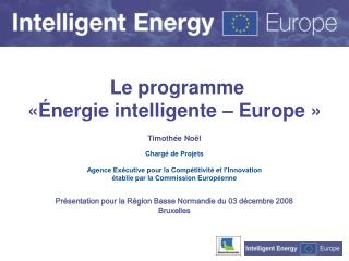 Le programme  «Énergie intelligente – Europe »