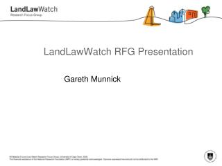 LandLaw Watch  RFG Presentation