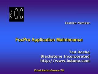 FoxPro Application Maintenance