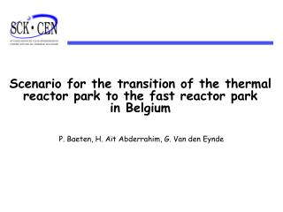 Scenario for the transition of the thermal reactor park to the fast reactor park  in Belgium