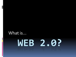 Web 2.0?
