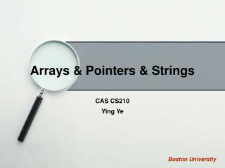 Arrays & Pointers & Strings