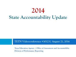 TETN Videoconference #30123 | August 21, 2014