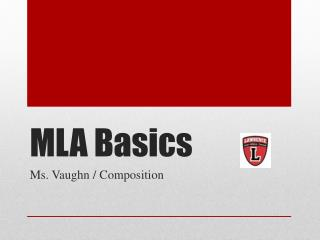 MLA Basics