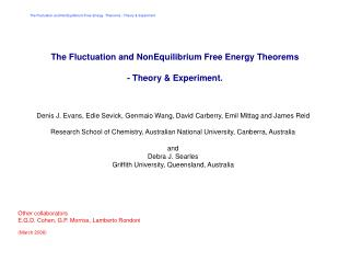 The Fluctuation and NonEquilibrium Free Energy Theorems - Theory & Experiment.