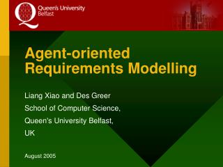 Agent-oriented Requirements Modelling