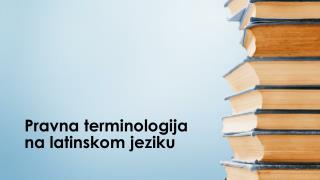 Pravna terminologija na latinskom jeziku