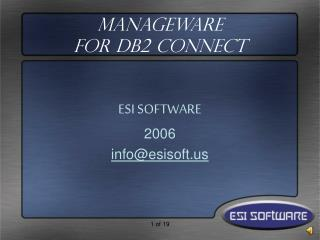ManageWare  for DB2 Connect