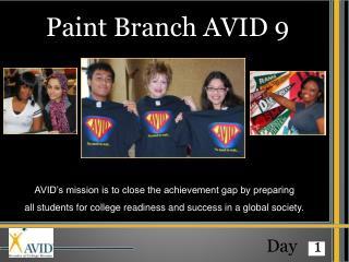 Paint Branch AVID 9