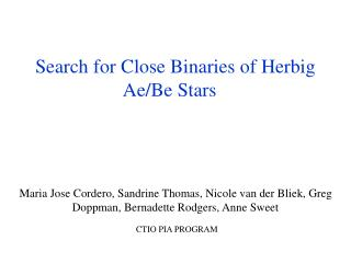 Search for Close Binaries of Herbig Ae/Be Stars