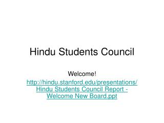 Hindu Students Council