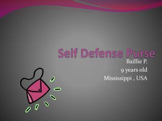 Self Defense Purse