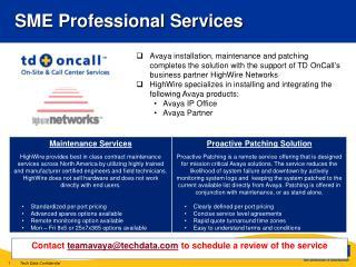 SME Professional Services