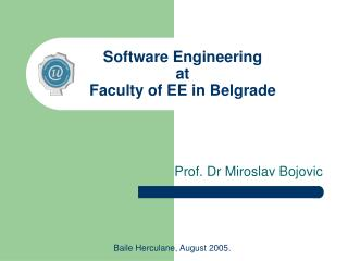 Software Engineering at Faculty of EE in Belgrade